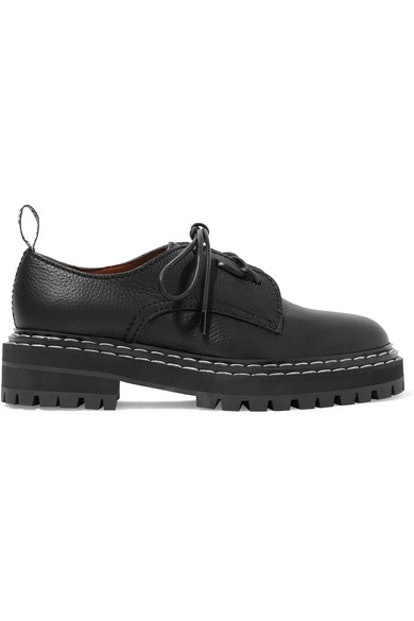Textured-Leather Brogues