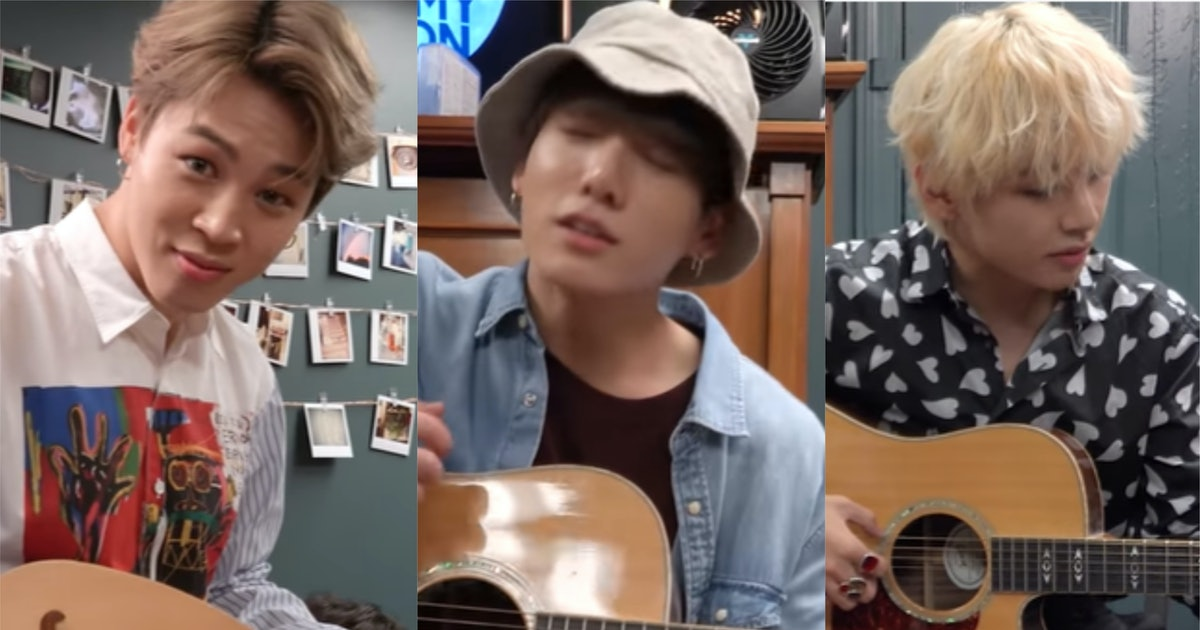 This Video Of BTS' Jimin, Jungkook, & V Playing Guitar Is So Hilarious