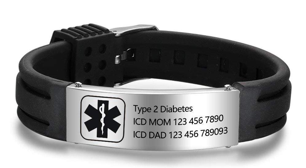 Fancy Medical Id Bracelets Alert Bracelet