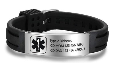 Lam Hub Fong Silicone Adjustable Medical ID Bracelet