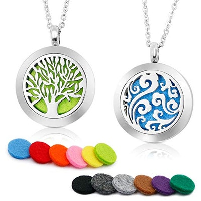RoyAroma Aromatherapy Essential Oil Diffuser Necklace (2-Pack)