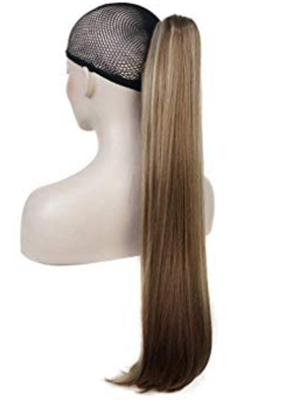 "24"" Long Straight Clip-In Ponytaill Extension"