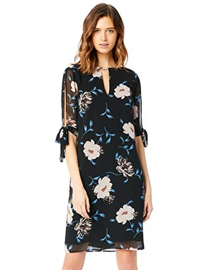Truth & Fable Sheer Sleeve Tunic Dress
