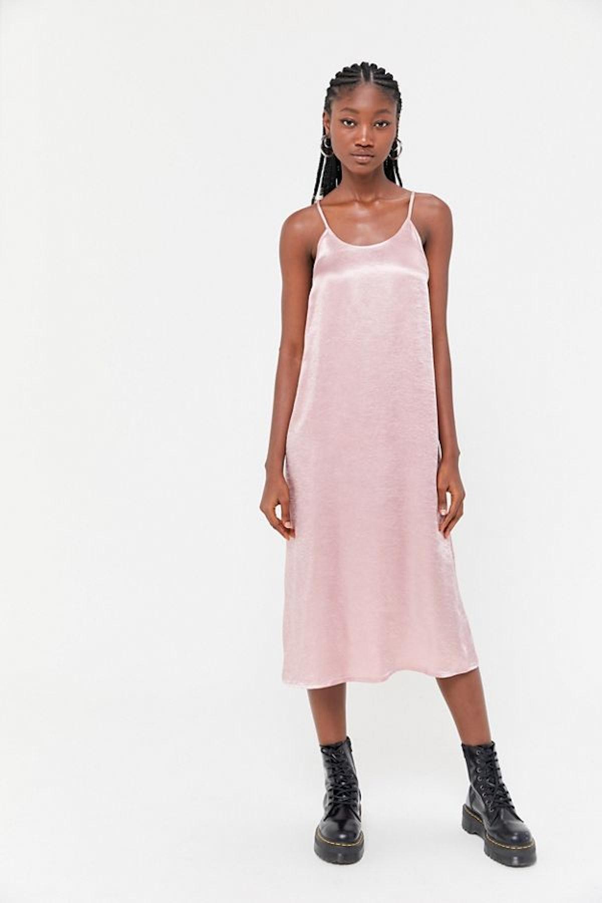 Urban Renewal Remnants Y-Back Satin Slip Dress
