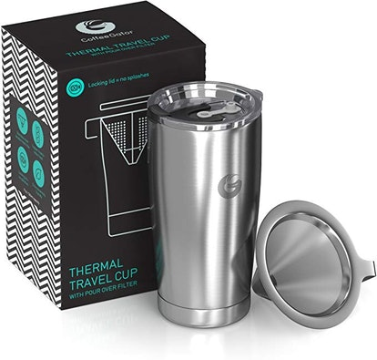 Coffee Gator Pour Over Brewer Mug All-In-One Thermal Travel Cup
