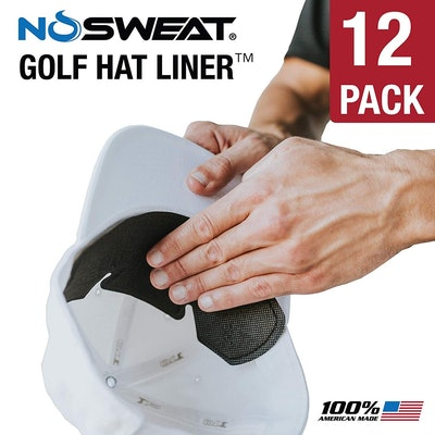 No Sweat Golf Hat Liner & Cap Protection (12 Pack)