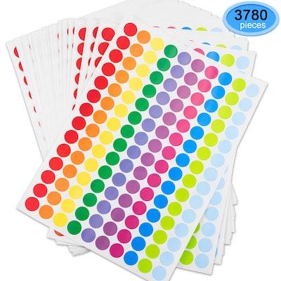 EAONE 3780Pcs Dot Labels