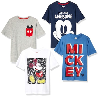 Spotted Zebra by Disney - Boys' Mickey Mouse 4-Pack Short-Sleeve T-Shirts