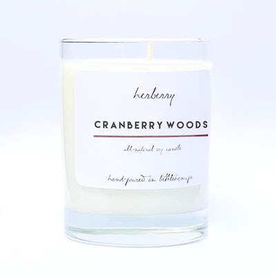 CRANBERRY WOODS. 12 OZ. All Natural Soy Candle