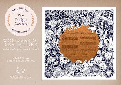 Wonders of Sea & Tree Papercut Ketubah