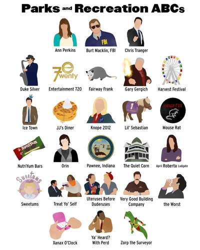 'Parks and Recreation' ABCs print