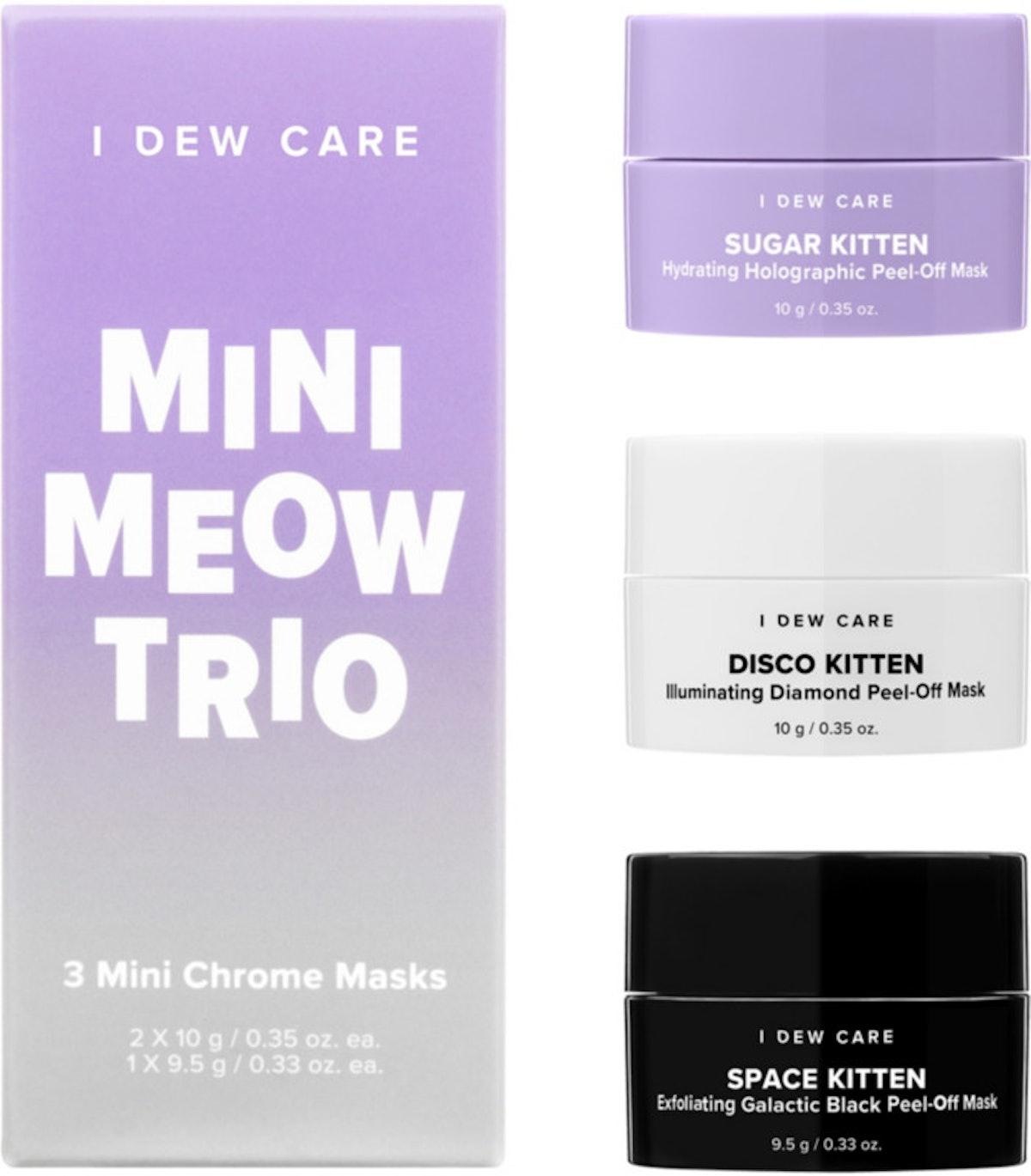 I Dew Care Mini Meow Peel-Off Mask Trio