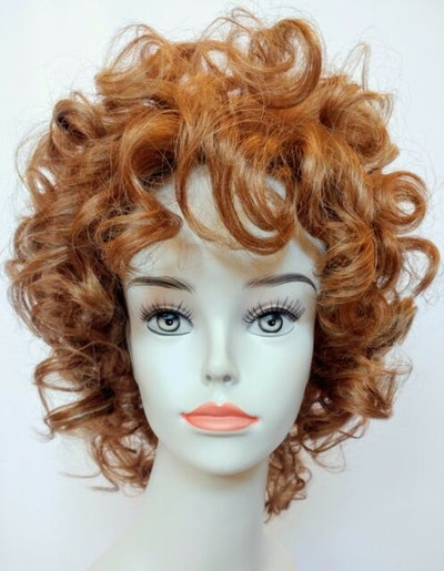 Red Blonde Short Curly Wig