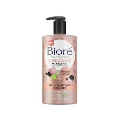 Bioré Rose Quartz + Charcoal Daily Cleanser