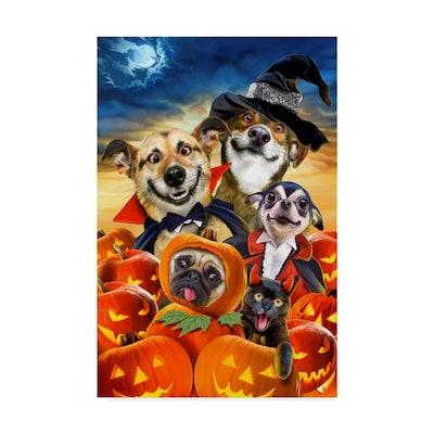 Spooky Puppies Print