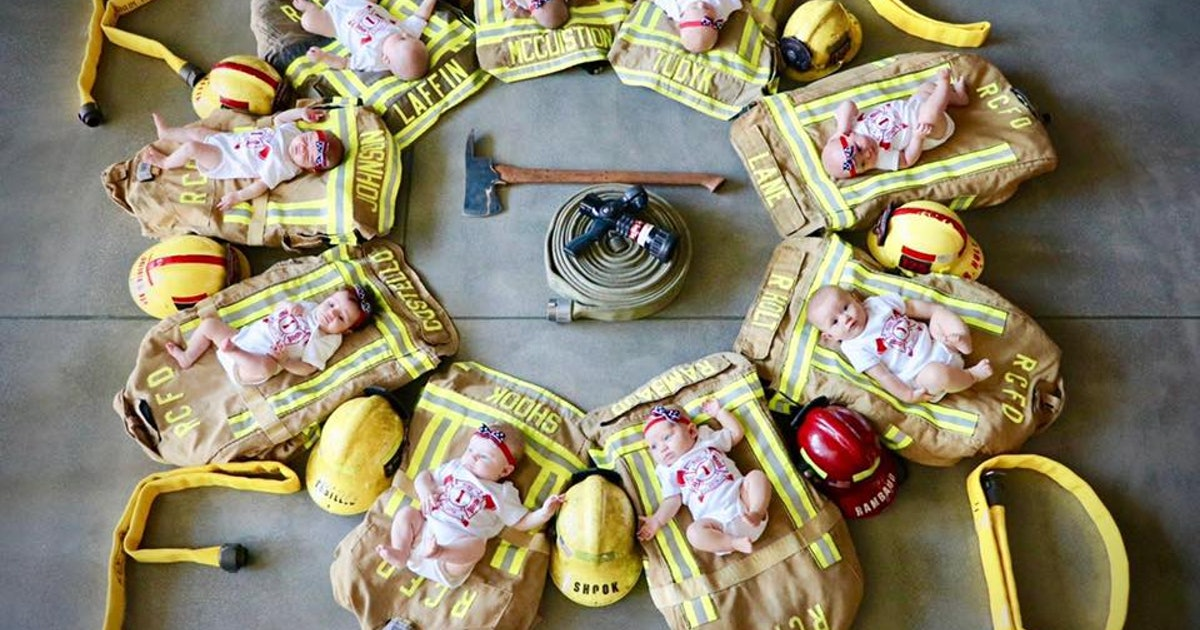 Firefighters Pose With Newborn Babies In The Most Precious Photo Shoot