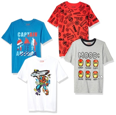 Spotted Zebra by Marvel - Boys' 4-Pack Short-Sleeve T-Shirts