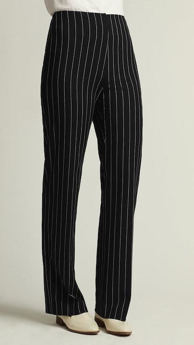 Pinstripe Straight Leg Pant