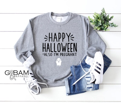 Pregnancy Announcement Halloween Shirt