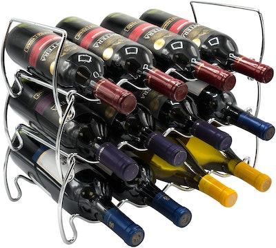 Sorbus 3-Tier Stackable Wine Tabletop Rack