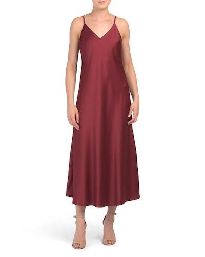 Vanessa Collezione Midi Satin Slip Dress (Sizes S-XL)