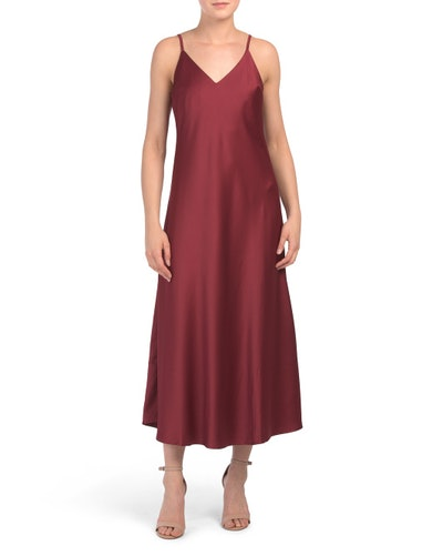 Vanessa Collezione Midi Satin Slip Dress (Sizes S-XL)