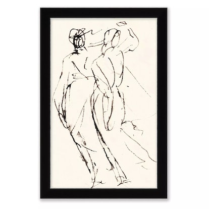 One Kings Lane™ Open House Figure Impressions 12-Inch x 18-Inch Framed Wall Art