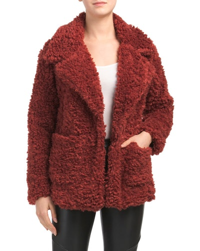 Me Jane Shaggy Lapel Coat (Sizes S-L)