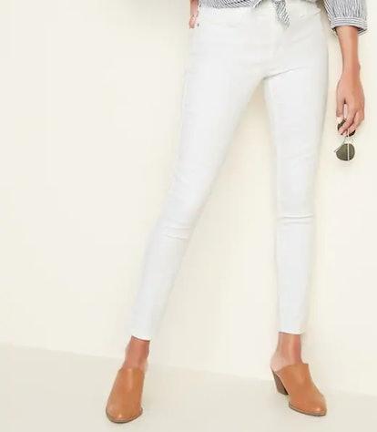 White Super Skinny Ankle Jeans for Women