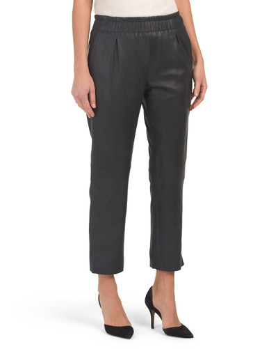 Joie Araona Cropped Leather Pants (Sizes XS-L)