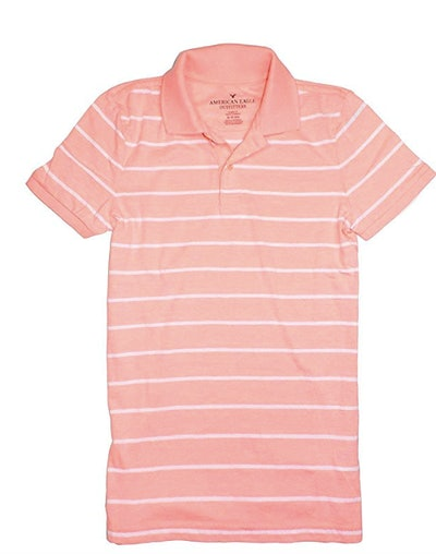 American Eagle Men's Soft Jersey Polo Golf Shirt