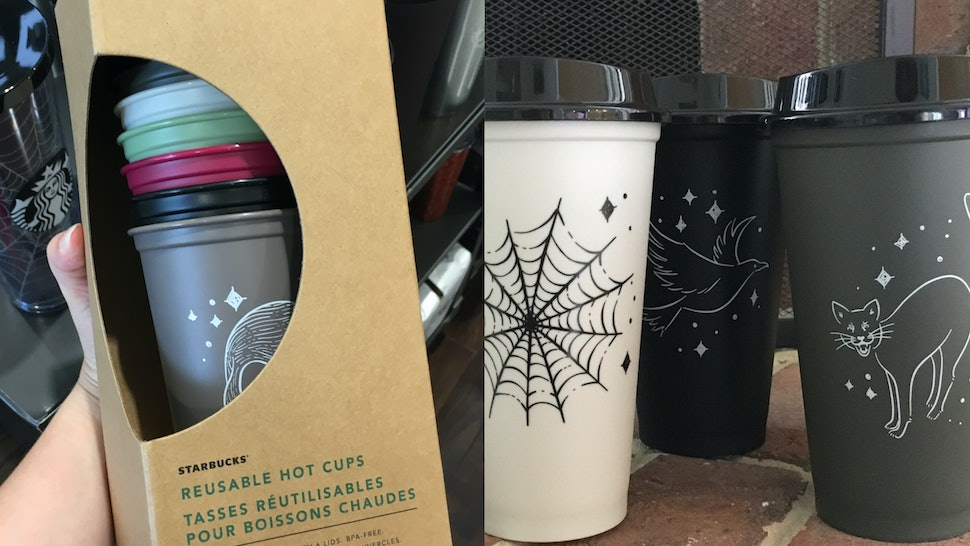Starbucks Reusable Halloween Hot Cups Are A Big Spooky Mood