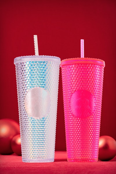 Iridescent Cold Cups  in Bling Platinum and Neon Pink