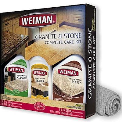 Weiman Granite Cleaner, Polish, and Sealer Kit
