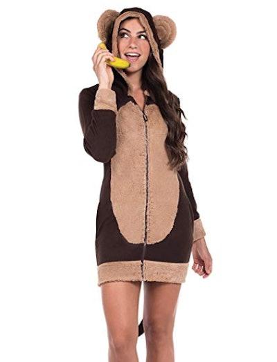 Tipsy Elves Cute Women's Monkey Dress w/Pockets
