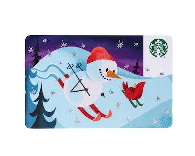 Starbucks card in festive holiday design