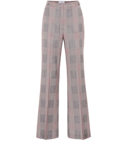 Vesta High-Rise Wide-Leg Wool Pants