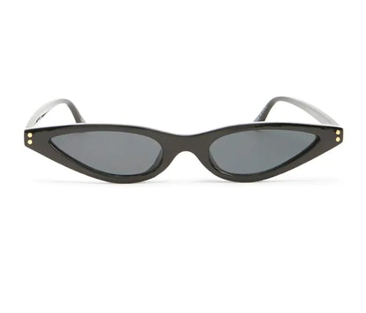 Plastic Skinny Cat-Eye Sunglasses