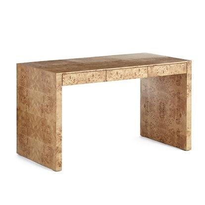 Oslo Burl Wood Veneer Desk