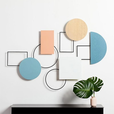 Geo Assemblage Wall Art, Set of 5