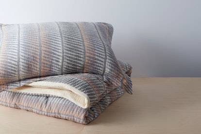 Organic Matelasse Feather Stripe Duvet Set