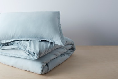 Organic Garment Wash Percale Duvet Set