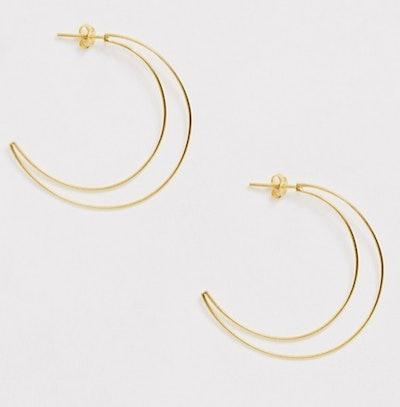 Kingsley Ryan Moon Hoop Earrings