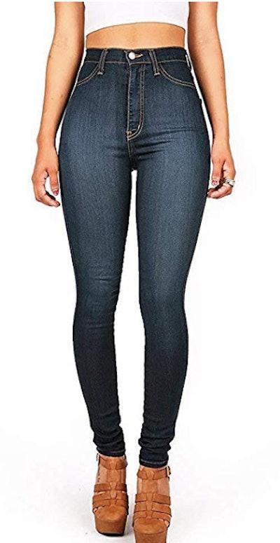 Vibrant High-Waist Skinny Jeans