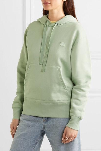 Ferris Face Appliquéd Cotton-Jersey Hoodie