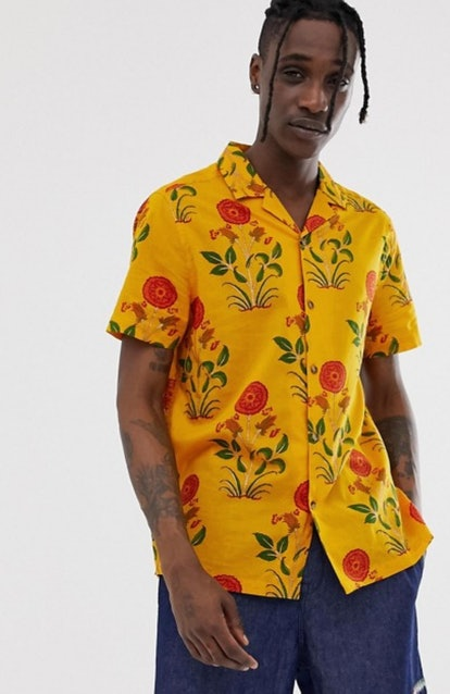 Oversized Painted Floral Shirt