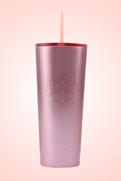 Glitter Gradient Pink Cold Cup