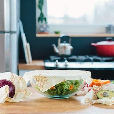 Beeswax Wraps-Set of 3 Reusable Bees Wax Food Wraps