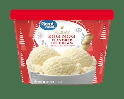 Great Value Holiday Egg Nog Ice Cream
