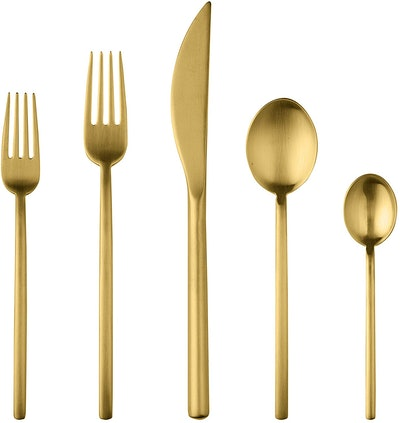 Mepra 5 Piece Place Setting in Ice Oro